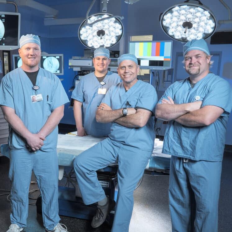 Gritman Medical Center Interventional Pain Clinic pain management specialists Dustin Gill, Gregory Bauer, James Hug, John Schirmer