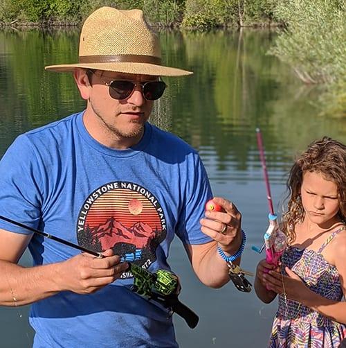 Cody kids fishing