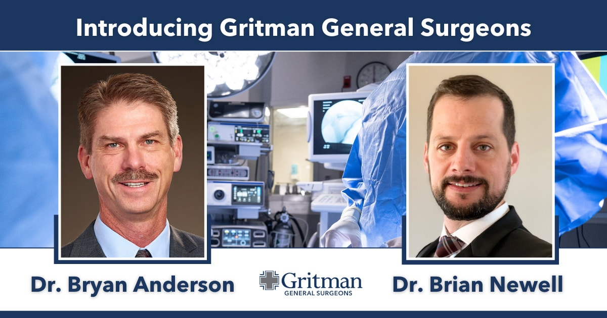 Gritman General Surgeons feature blog graphic