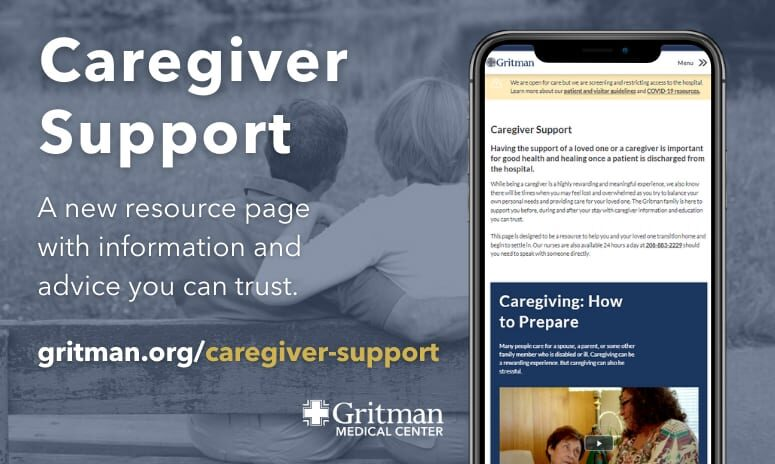 Caregiver Support page graphic