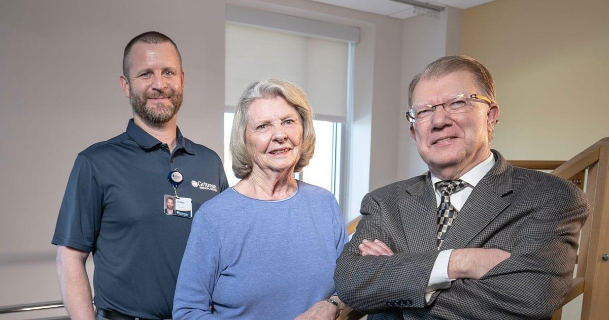 Justin Minden, Nancy Lyle, Dr. Jacobson