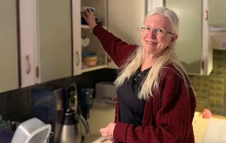 Sunni Caylor in her kitchen