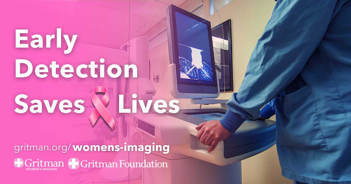Gritman's Women's Imaging Center graphic