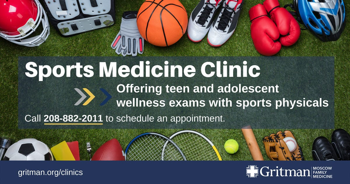 Now offering teen and adolescent wellness exams with sports physicals
